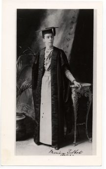 AAUW founder Marion Talbot in 1881