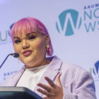 2019 Woman of Distinction Ashley Nell Tipton of Project Runway (Photo by Dayna Smith)