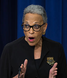 Photo of Johnetta Cole in 2015, courtesy of NASA/Aubrey Gemignani