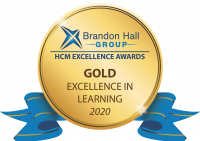 Badge for Brandon Hall Group HCM Excellence Awards: Gold in Excellence in Learning, 2020