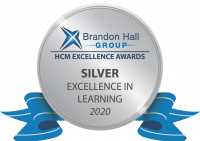 Badge for Brandon Hall Group HCM Excellence Awards: Silver in Excellence in Learning, 2020